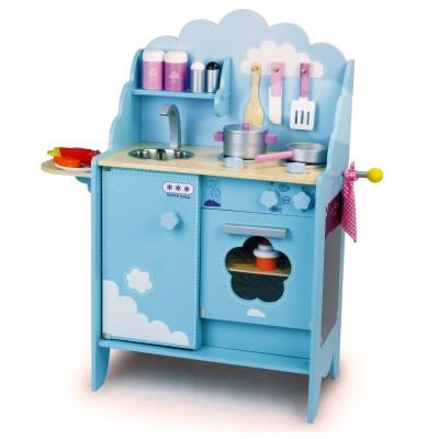 Cuisine en bois dans les nuages vilac le lutin rouge - Fabriquer une cuisine en bois pour enfant ...