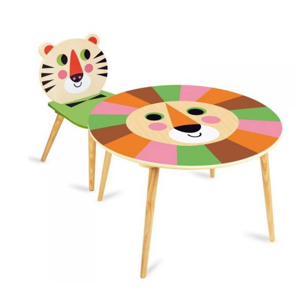 Table Lion et Chaise Tigre par Ingela P. Arrhenius - Vilac-7746