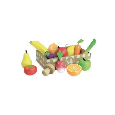 jour de march set de fruits et l gumes en bois jeux. Black Bedroom Furniture Sets. Home Design Ideas