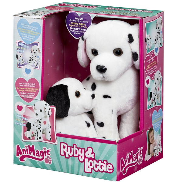 Peluches chiens interactives Animagic : Ruby & Lottie Maman et son bébé - Vivid-31189.4300