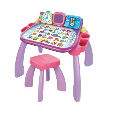 bureau ducatif magi bureau interactif 3 en 1 rose jeux et jouets vtech avenue des jeux. Black Bedroom Furniture Sets. Home Design Ideas