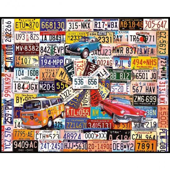 Puzzle 1000 Pi 232 Ces Plaques D Immatriculation Puzzle