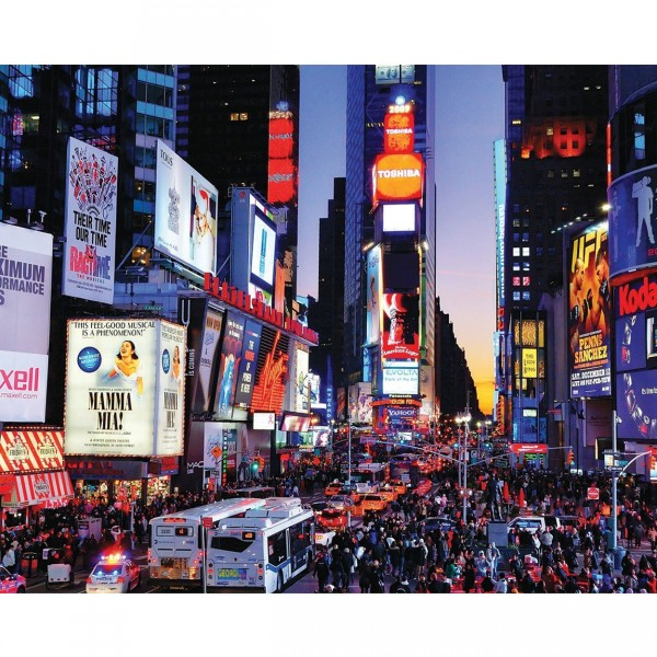 Puzzle 1000 pièces : Time Square, New York - White-922
