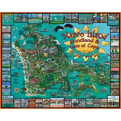 Puzzle 1000 pièces - Marco Island, Floride, USA - White-712