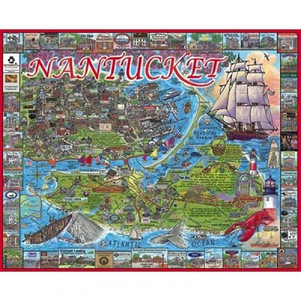 Puzzle 1000 pièces - Nantucket, Massachusetts, USA - White-533