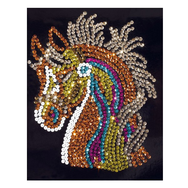 Créa sequins cheval - Woozart-WOZ6376698-Cheval