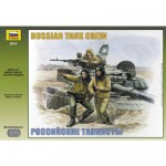 Figurines militaires : Equipage moderne de Tankistes russes